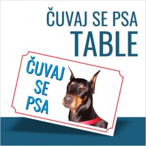 TABLICE ČUVAJ SE PSA